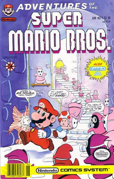 Cover for Adventures of the Super Mario Bros. (Acclaim / Valiant, 1990 series) #5