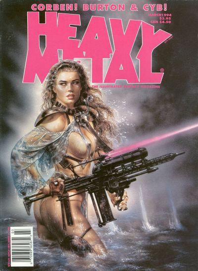 Cover for Heavy Metal Magazine (Heavy Metal, 1977 series) #v18#1