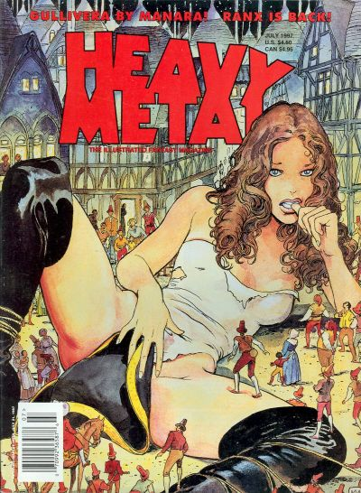 Cover for Heavy Metal Magazine (Heavy Metal, 1977 series) #v21#3