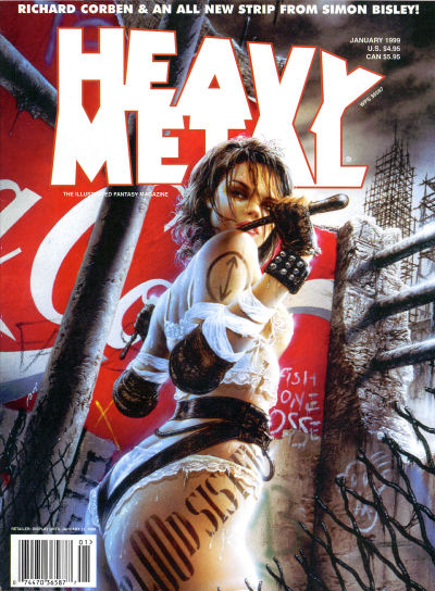 Cover for Heavy Metal Magazine (Heavy Metal, 1977 series) #v22#6
