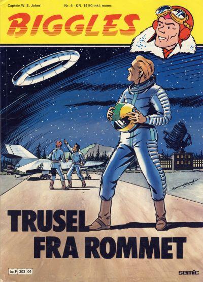 Cover for Biggles (Semic, 1978 series) #4 - Trusel fra rommet