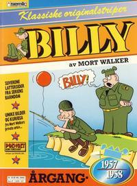 Cover Thumbnail for Billy Klassiske originalstriper (Semic, 1989 series) #1957/58 [1. opplag]