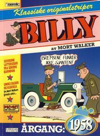 Cover Thumbnail for Billy Klassiske originalstriper (Semic, 1989 series) #1958 [1. opplag]