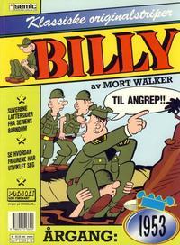 Cover Thumbnail for Billy Klassiske originalstriper (Semic, 1989 series) #1953 [1. opplag]