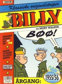 Cover Thumbnail for Billy Klassiske originalstriper (Semic, 1989 series) #1955/56
