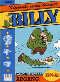 Cover Thumbnail for Billy Klassiske originalstriper (Semic, 1989 series) #1960/61