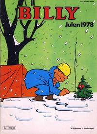 Cover Thumbnail for Billy julehefte (Hjemmet / Egmont, 1970 series) #1978