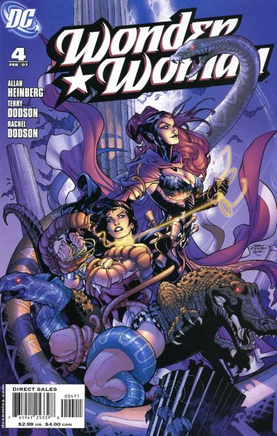 Cover for Wonder Woman (DC, 2006 series) #4 [Newsstand Edition]