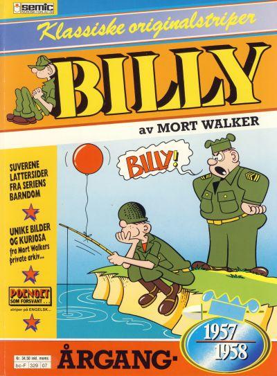 Cover for Billy Klassiske originalstriper (Semic, 1989 series) #1957/58 [2. opplag]