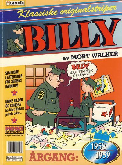 Cover for Billy Klassiske originalstriper (Semic, 1989 series) #1958/59 [1. opplag]