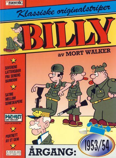 Cover for Billy Klassiske originalstriper (Semic, 1989 series) #1953/54 [1. opplag]