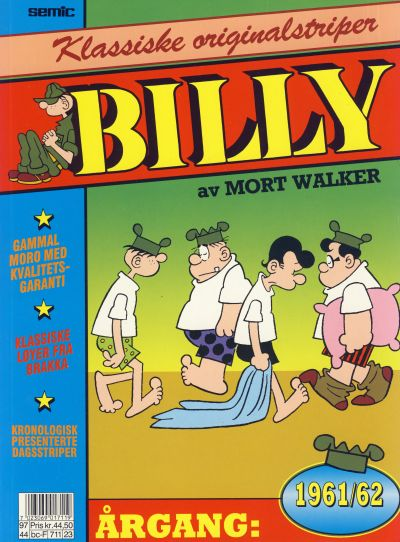 Cover for Billy Klassiske originalstriper (Semic, 1989 series) #1961/62