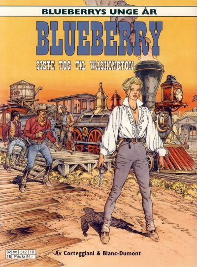 Cover for Blueberrys unge år (Hjemmet / Egmont, 1999 series) #9 - Siste tog til Washington
