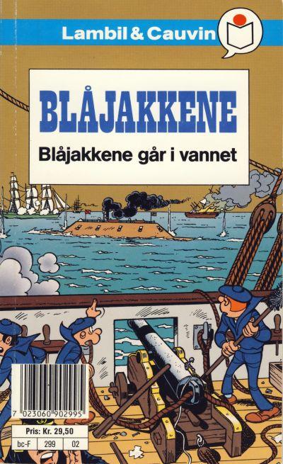 Cover for Blåjakkene [Semic Tegneseriepocket] (Semic, 1990 series) #2 - Blåjakkene går i vannet