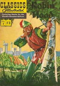 Cover Thumbnail for Classics Illustrated (Thorpe & Porter, 1951 series) #7 - Robin Hood [1'3 Price Black Title]