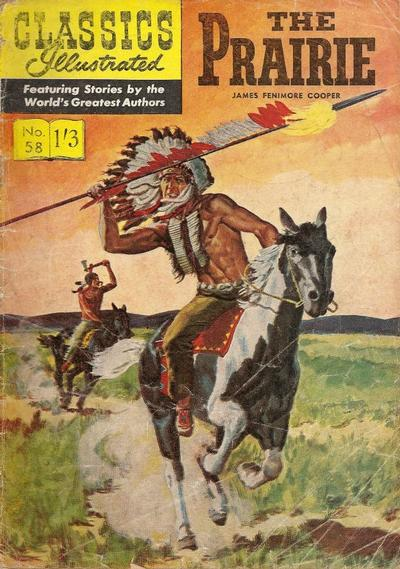 Cover for Classics Illustrated (Thorpe & Porter, 1951 series) #58 - The Prairie