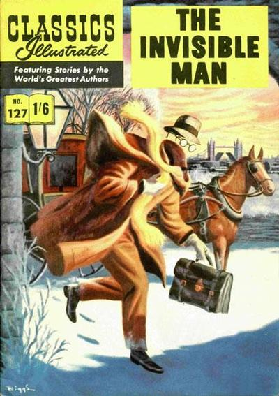 Cover for Classics Illustrated (Thorpe & Porter, 1951 series) #127 - The Invisible Man