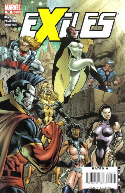 Cover for Exiles (Marvel, 2001 series) #88