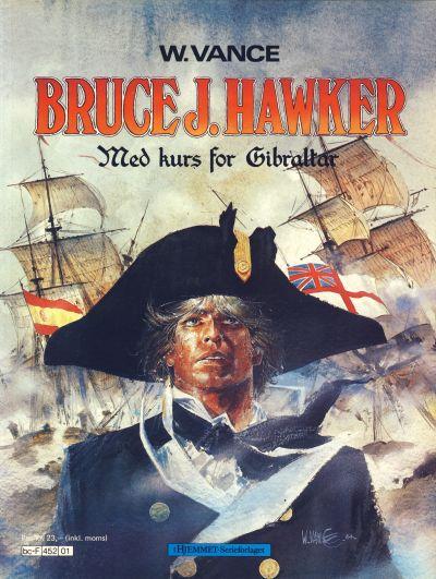 Cover for Bruce J. Hawker (Hjemmet / Egmont, 1985 series) #1 - Med kurs for Gibraltar