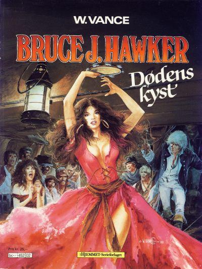 Cover for Bruce J. Hawker (Hjemmet / Egmont, 1985 series) #2 - Dødens kyst; De fordømtes fest