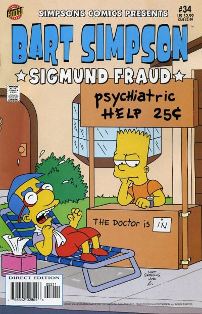 Cover for Simpsons Comics Presents Bart Simpson (Bongo, 2000 series) #34