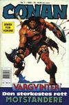 Cover for Conan (Bladkompaniet / Schibsted, 1990 series) #1/1992