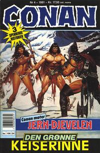 Cover Thumbnail for Conan (Bladkompaniet / Schibsted, 1990 series) #4/1991