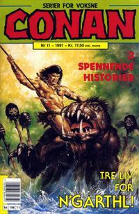 Cover Thumbnail for Conan (Bladkompaniet / Schibsted, 1990 series) #11/1991