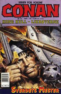 Cover Thumbnail for Conan (Bladkompaniet / Schibsted, 1990 series) #12/1991