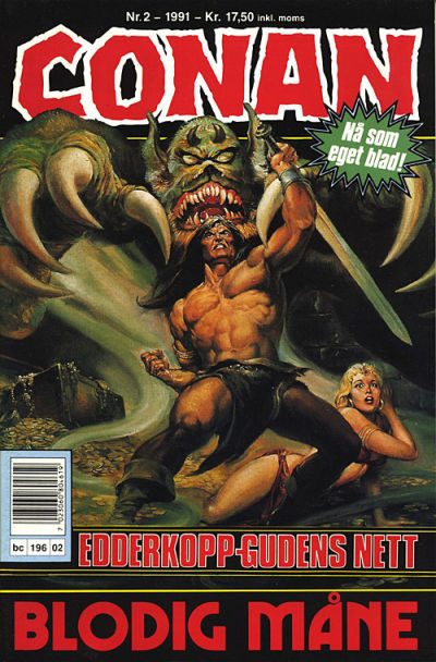 Cover for Conan (Bladkompaniet, 1990 series) #2/1991