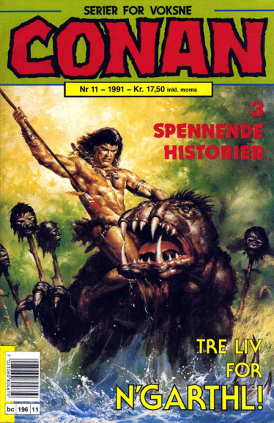 Cover for Conan (Bladkompaniet / Schibsted, 1990 series) #11/1991