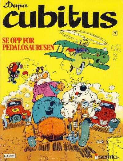 Cover for Cubitus (Semic, 1980 series) #1 - Se opp for pedalosaurusen