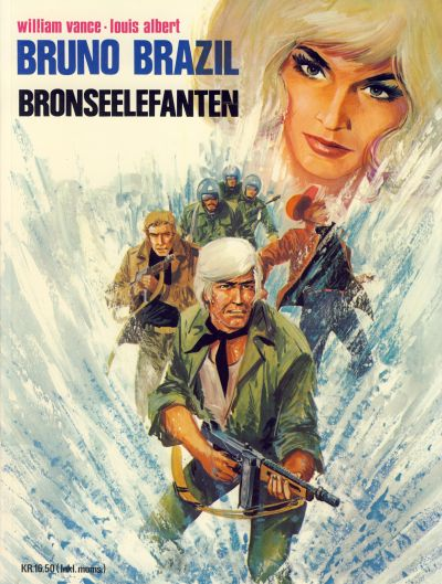 Cover for Bruno Brazil (Winthers forlag, 1979 series) #2 - Bronseelefanten