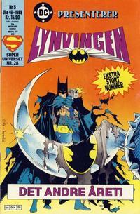Cover Thumbnail for DC presenterer (Semic, 1988 series) #5/1988