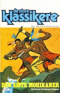 Cover Thumbnail for De Store klassikere (Semic, 1979 series) #3/1980