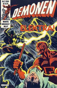 Cover Thumbnail for Demonen (Semic, 1986 series) #2/1986