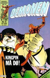 Cover Thumbnail for Demonen (Semic, 1986 series) #4/1986