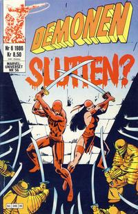 Cover Thumbnail for Demonen (Semic, 1986 series) #6/1986