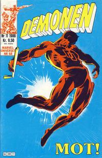 Cover Thumbnail for Demonen (Semic, 1986 series) #11/1986