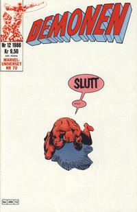 Cover Thumbnail for Demonen (Semic, 1986 series) #12/1986