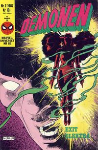Cover Thumbnail for Demonen (Semic, 1986 series) #2/1987