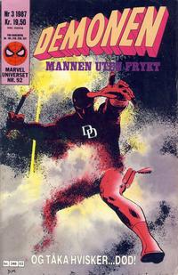 Cover Thumbnail for Demonen (Semic, 1986 series) #3/1987