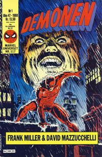 Cover Thumbnail for Demonen (Semic, 1986 series) #1/1988