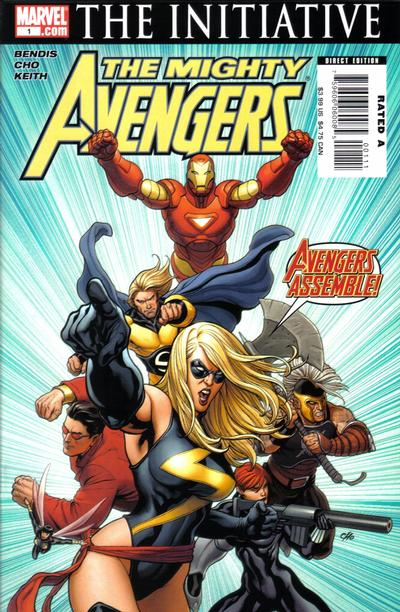 Cover for The Mighty Avengers (Marvel, 2007 series) #1 [Second Print Variant]
