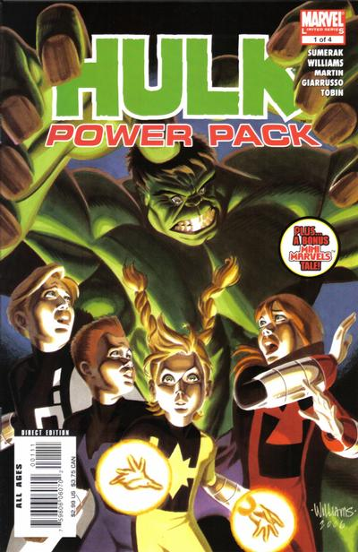 Cover for Hulk and Power Pack (Marvel, 2007 series) #1
