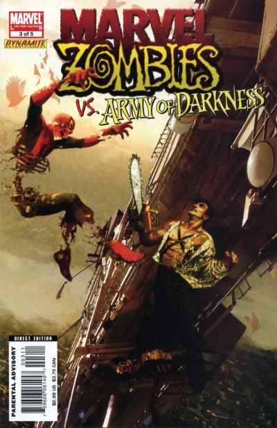 Cover for Marvel Zombies / Army of Darkness (Marvel / Dynamite Entertainment, 2007 series) #3 [Dynamic Forces Variant]