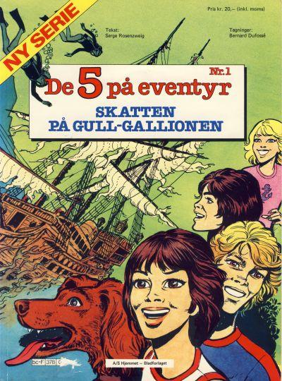 Cover for De 5 på eventyr (Hjemmet / Egmont, 1983 series) #1 - Skatten på gull-gallionen