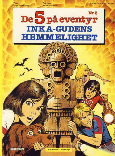 Cover for De 5 på eventyr (Hjemmet / Egmont, 1983 series) #2 - Inka-gudens hemmelighet