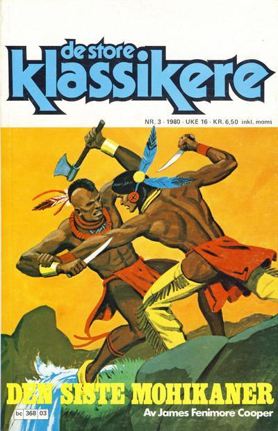Cover for De Store klassikere (Semic, 1979 series) #3/1980