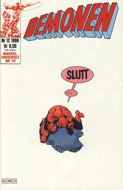 Cover for Demonen (Semic, 1986 series) #12/1986